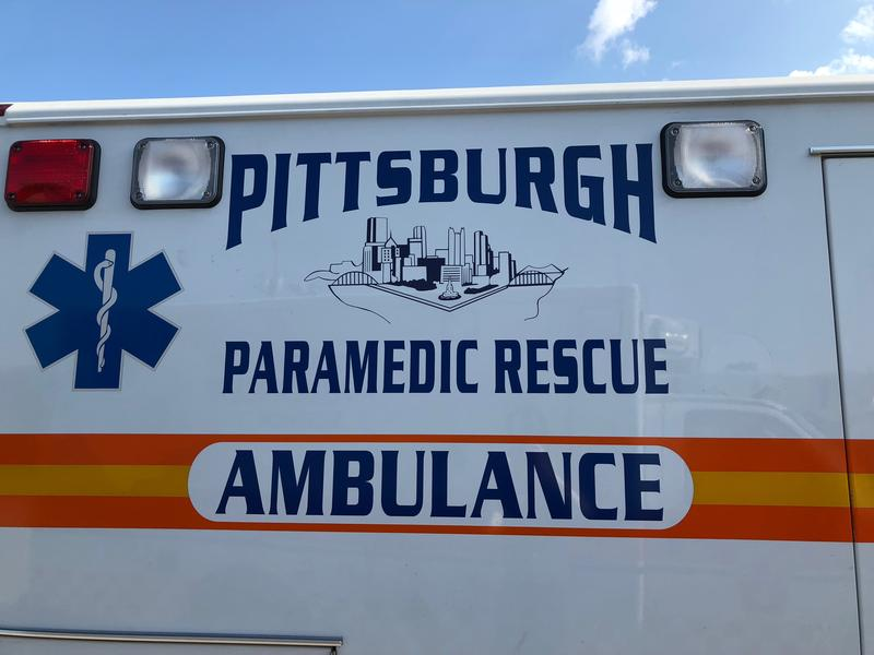 An EMS vehicle in McKeesport on Wednesday, August 29, 2018.