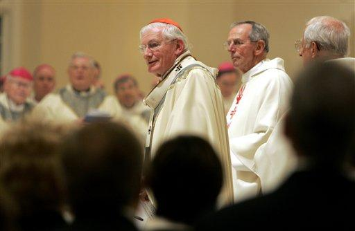 Cardinal William Keeler looks on during the Bishops' Mass at The Baltimore Basilica on Sunday, Nov. 12, 2006 in Baltimore.