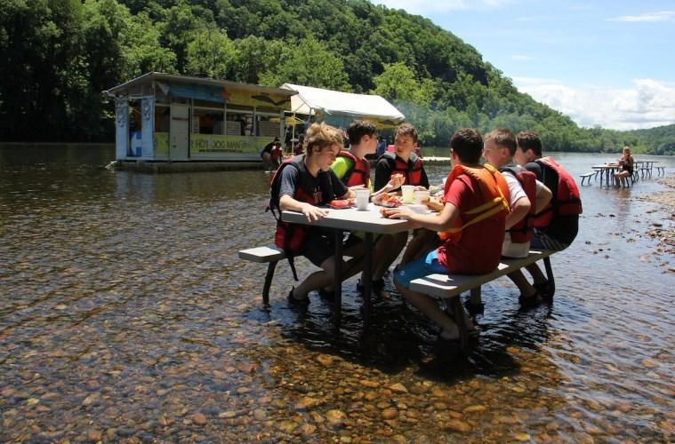 Located in a remote spot on the Delaware River, the famous River Hot Dog Man is the only game in town for tubers.