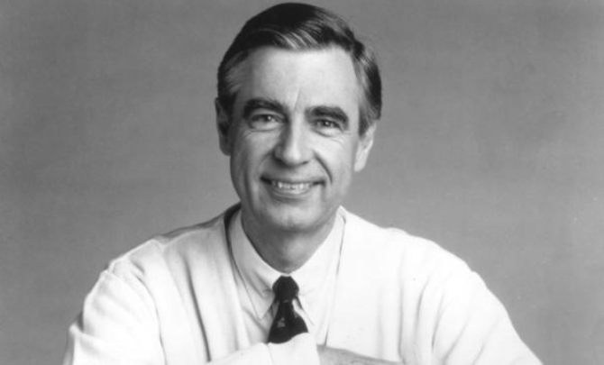 Fred Rogers of Mister Rogers' Neighborhood.