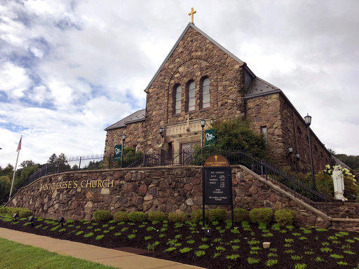 This Aug. 22, 2018 photo shows St. Therese's Church in Shavertown, Pa. A grandy jury report on sexual abuse by Roman Catholic clergy in Pennsylvania proved to be especially difficult reading for parishoners of St. Therese's Church outside Wilkes-Barre.