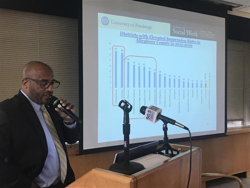 James Huguley with the Center on Race and Social Problems notes Allegheny County Schools with the highest rates of school suspensions.