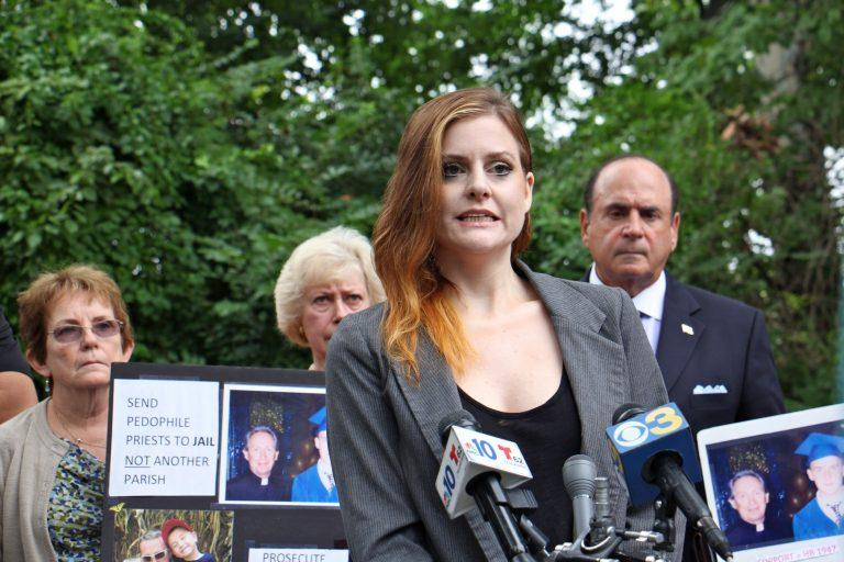 Jessica Howard, who was sexually abused by USA Gymnastics doctor Larry Nassar, spoke on behalf of victims of Catholic priests, while urging Pennsylvania to change its statute of limitations.