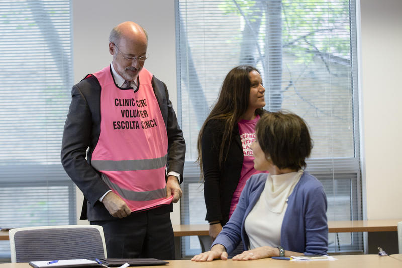 Gov. Tom Wolf has been a clinic escort for Planned Parenthood.