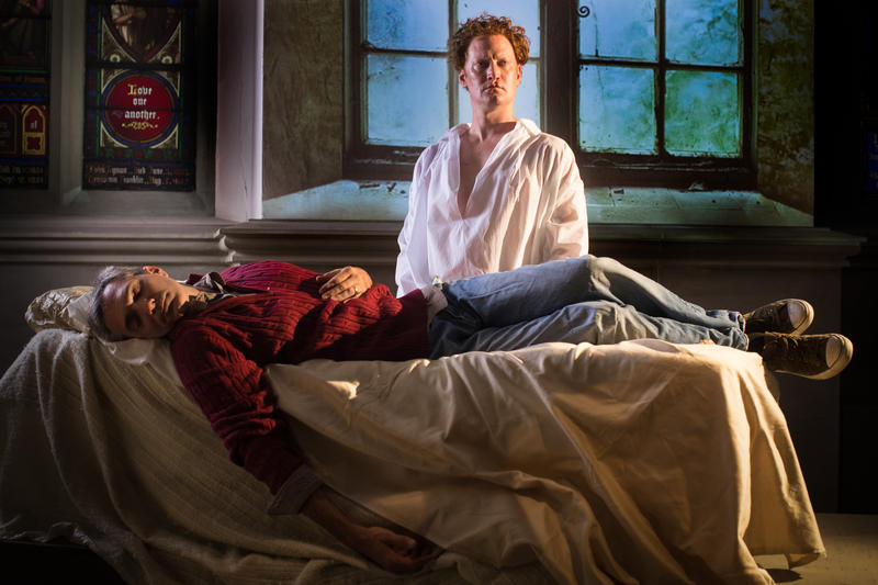"Tony Bingham (left) and Jonathan Visser star in Quantum Theatre's ""Chatterton."""