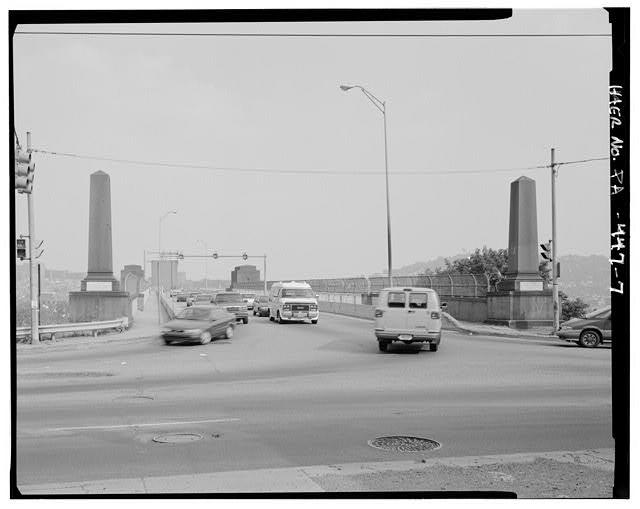 The 40th Street Bridge approaching from the Millvale side, taken in 1997.