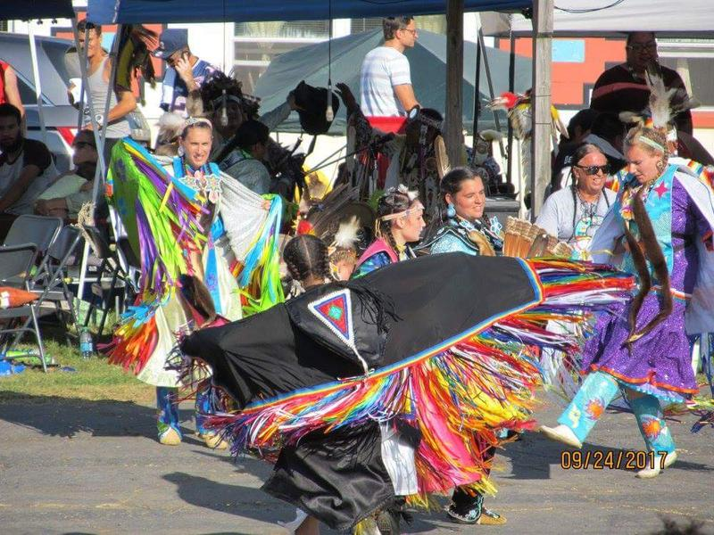 Dancers participate in the 2017 Pow Wow at the Council of Three Rivers American Indian Center.