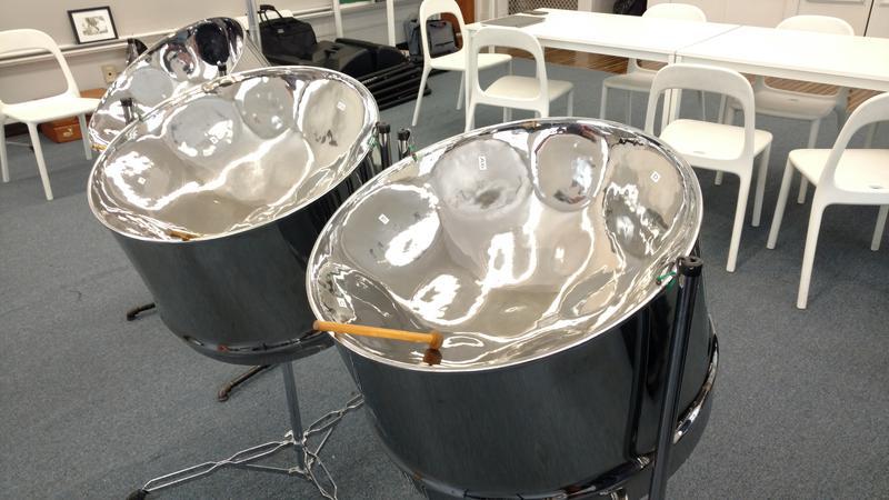 Steelpan drums.
