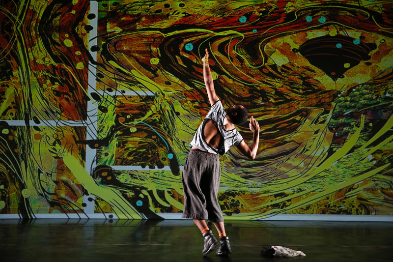 "A dancer performs a scene in ""Virago-Man Dem,"" a dance by choreographer Cynthia Oliver to premiere this weekend at the Kelly-Strayhorn Theater."