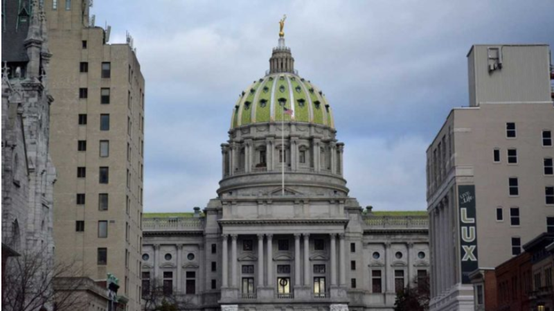 The capitol building in Harrisburg, Pa.
