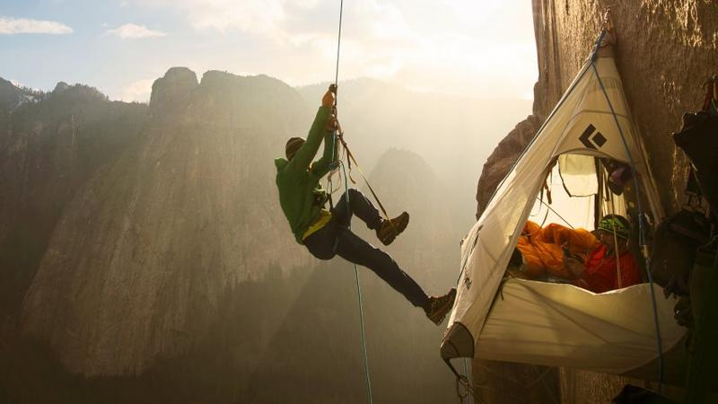 A still from the film The Dawn Wall, which chronicles climbers Tommy Caldwell and Kevin Jorgenson as they try, and ultimately succeed, to scale one of the longest and hardest routes in the world. It was released in U.S. theaters on Friday, Sept. 14, 2018.