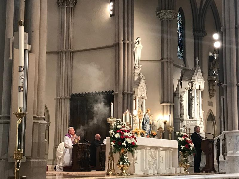 Bishop David Zubik presides over the inagural Year of Repentance service at St. Paul's Cathedral in Oakland.