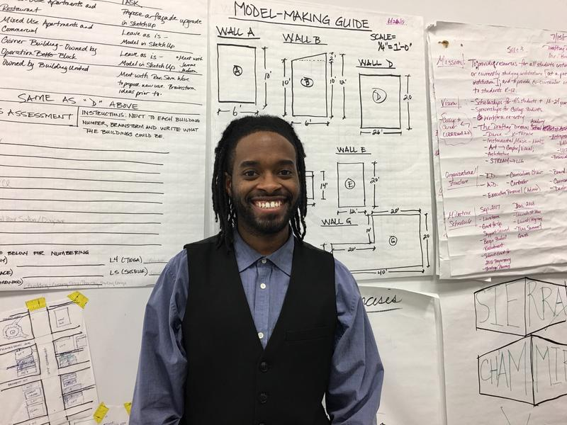 Christian Hughes of Homewood-based Drafting Dreams. The community program teaches Pittsburgh-area K-12 students the principles of architecture and design.