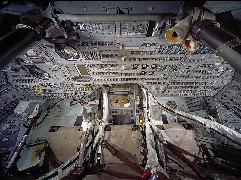 "View of the interior of Apollo 11 Command Module ""Columbia."""