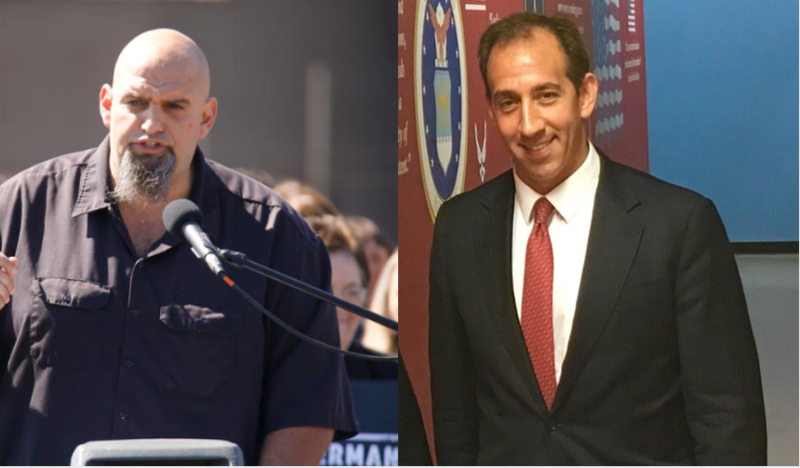 John Fetterman, left, and Jeff Bartos, right, will meet in Pittsburgh for a debate. Both are looking to become the next lieutenant governor.
