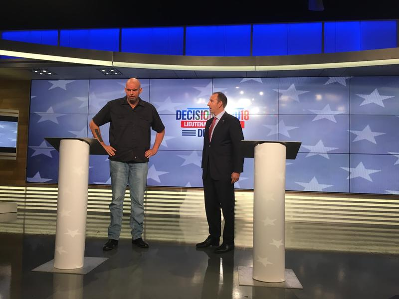 Candidates for lieutenant governor, Democrat John Fetterman and Republican Jeff Bartos.