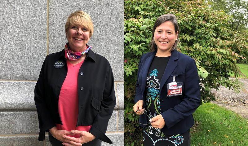 Democrat Michelle Knoll (left) and Republican Valerie Gaydos.