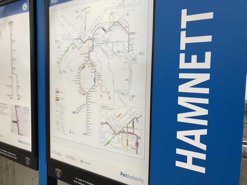 Hamnett Station in Wilkinsburg, Pa. is near the border of that borough and Edgewood. It does not have outbound stop accessibility, which Good Question! listener Jay Walker found odd.