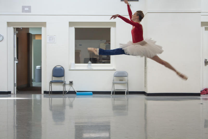 Julia Erickson rehearses for a performance at the Pittsburgh Ballet Theatre.