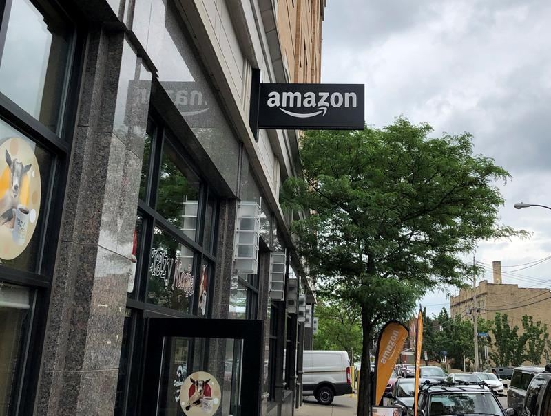 An Amazon pick-up location in Pittsburgh's Oakland neighborhood.
