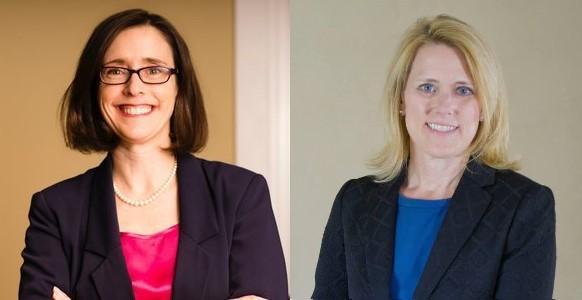 Democrat Betsy Monre (left) and Republican Lori Mizgorski (right)