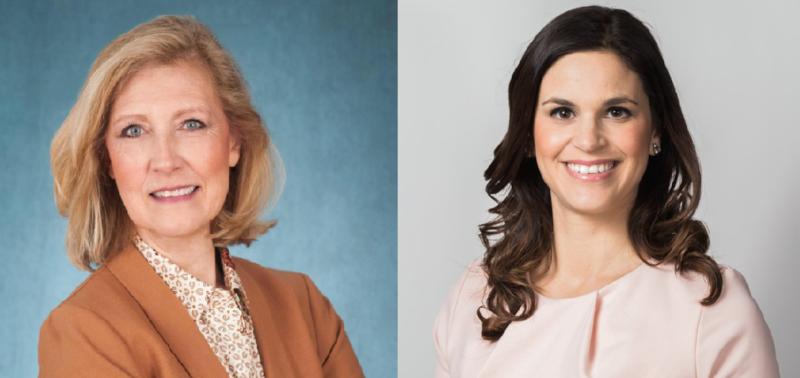 Democrat Sharon Guidi, left, and Republican Natalie Mihalek, right
