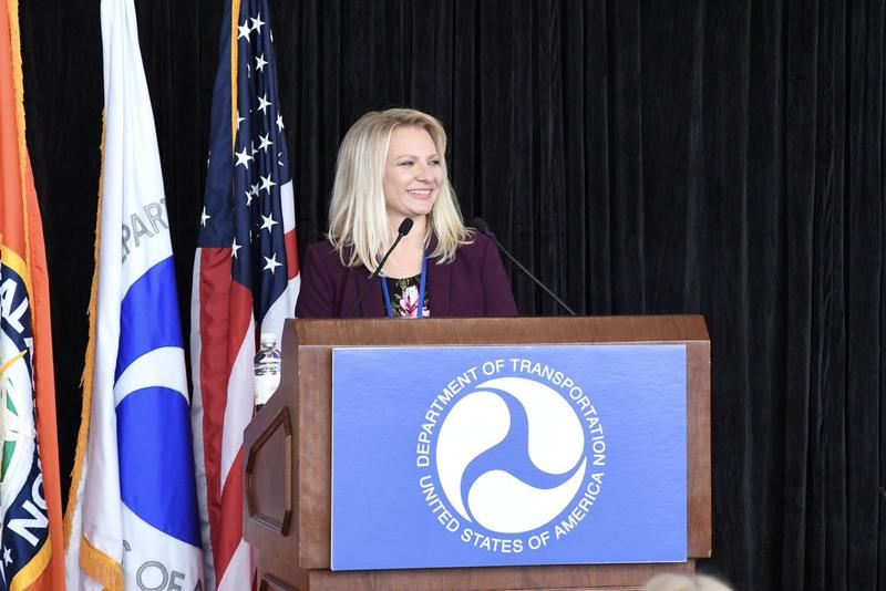 Pittsburgh Institute of Aeronautics CEO Suzanne Markle speaks at a U.S. Department of Transportation event in Washington D.C. in September 2018.