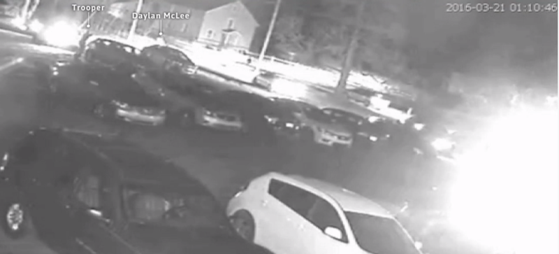 While grainy, security video footage from Daylon McLee's attorney indicates police opened fire on McLee following a fight at the Dunbar Township American Legion in March 2016.