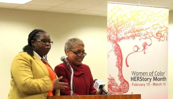 New Voices Pittsburgh's La'Tasha Mayes (left) and President and CEO of the Black Women's Health Imperative Eleanor Hinton Hoytt