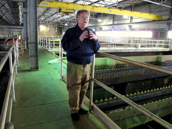 PWSA Water Quality Manager Jay Kuchta gives a tour of the utility's water treatment plant.
