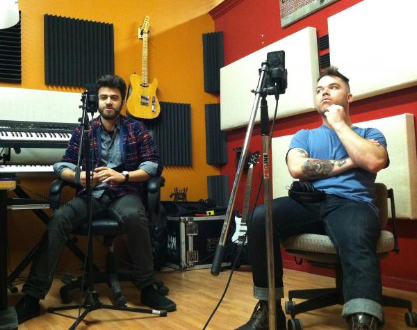 Ryan Neitznick (left) and John Fischer (right) at their Lawrenceville studio, known as La Harrier.