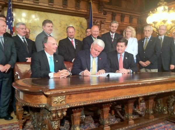 Gov. Tom Corbett has signed an on-time budget, but he can claim zero victories on his other top priorities: liquor privatization, transportation funding or pension overhaul.