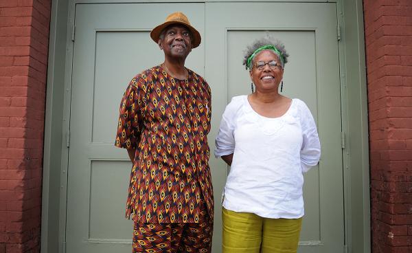 Mensah Wali and Gail Austin of the Kente Arts Alliance.