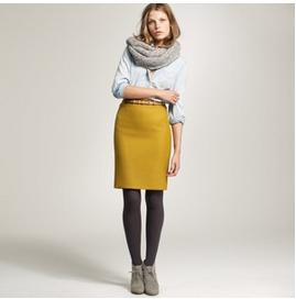 J. Crew Pencil Skirt in Mustard