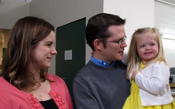 Courtney, Grant and Maddie Williams. The Williams family currently can't save for Maddie's future without losing Medicaid and Social Security benefits for her care. The ABLE Act would allow them to open a 529-style savings plan for the 4-year-old.