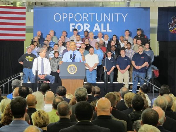 President Obama praised CCAC's job-driven approach to education during a speech at the West Hills Center campus on Wednesday.