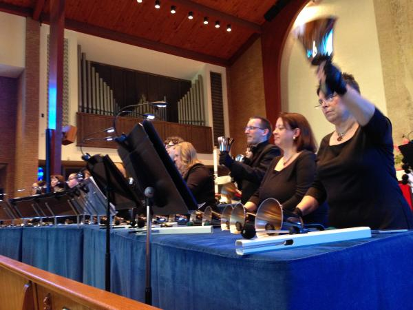 The Three Rivers Ringers use about 175 instruments throughout the Blue Danube Waltz.