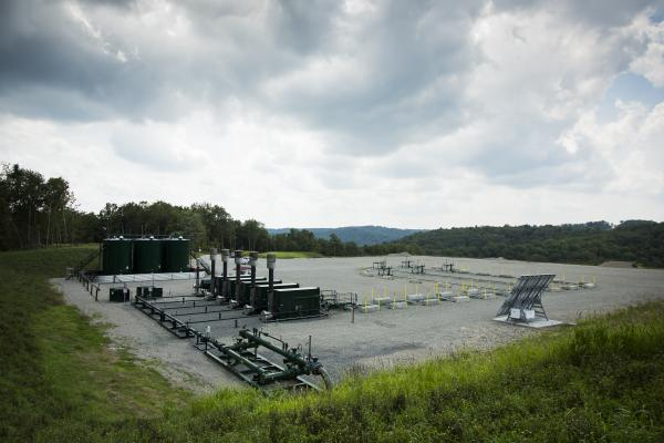 Range Resources already operates around twenty production wells near Deer Lakes Park, with more under construction. This production pad is located in Washington County.