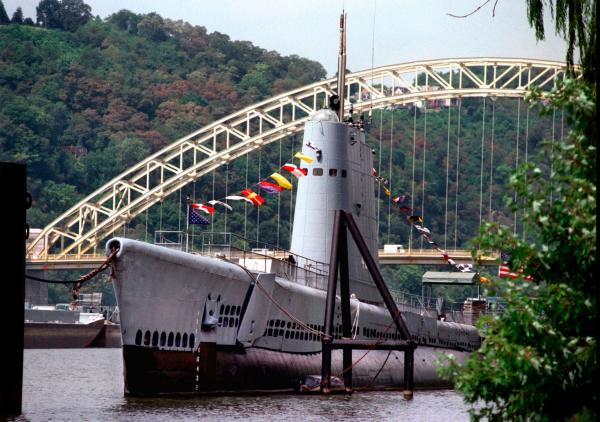 The USS Requin will the site of Sunday's submarine veteran memorial service.