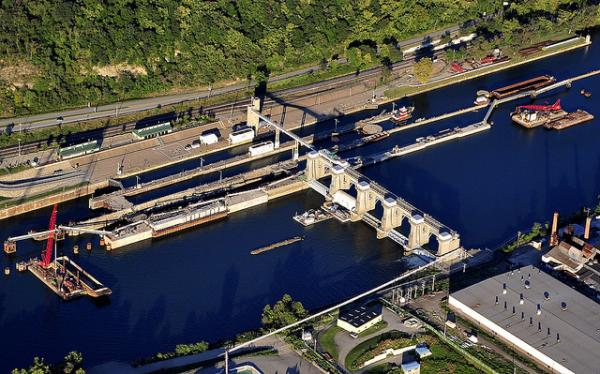 The Charleroi Locks and Dam system are one of three lock and dam systems on the Lower Monongahela that are slated for an upgrade.