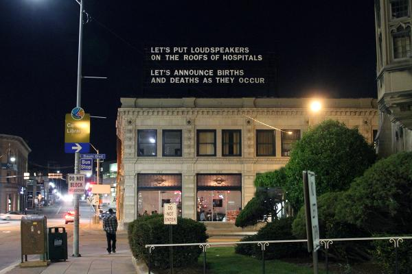Photographer and artist Adam Frelin submitted this post for the billboard. It was up throughout April.