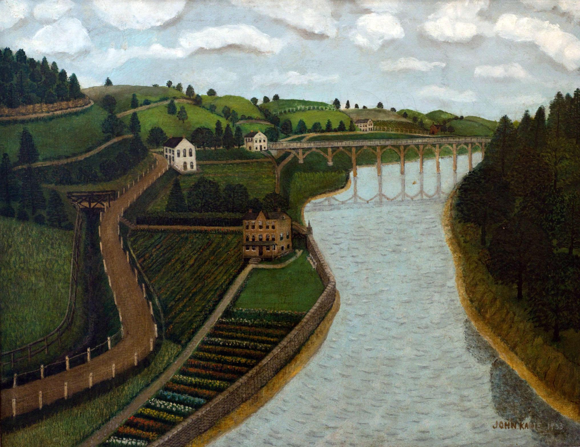 Folk Artist John Kane's Work Exhibited at the Westmoreland Museum