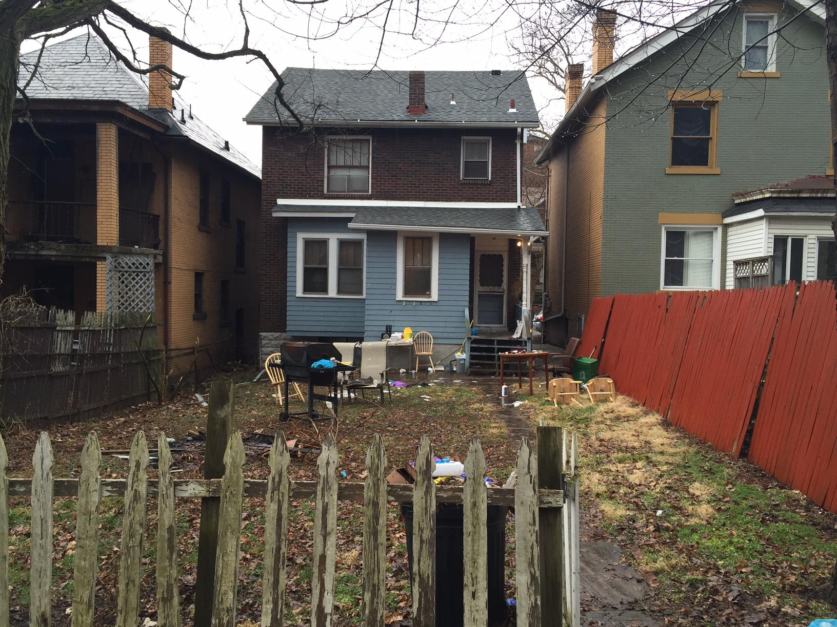 The Backyard Of Home At 1304 Franklin Ave In Wilkinsburg Where Gunman Opened Fire On A Party Late Wednesday Night