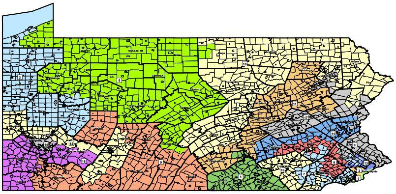 Bill Aims To Curtail PA Gerrymandering WESA - Us representative district map pennsylvania