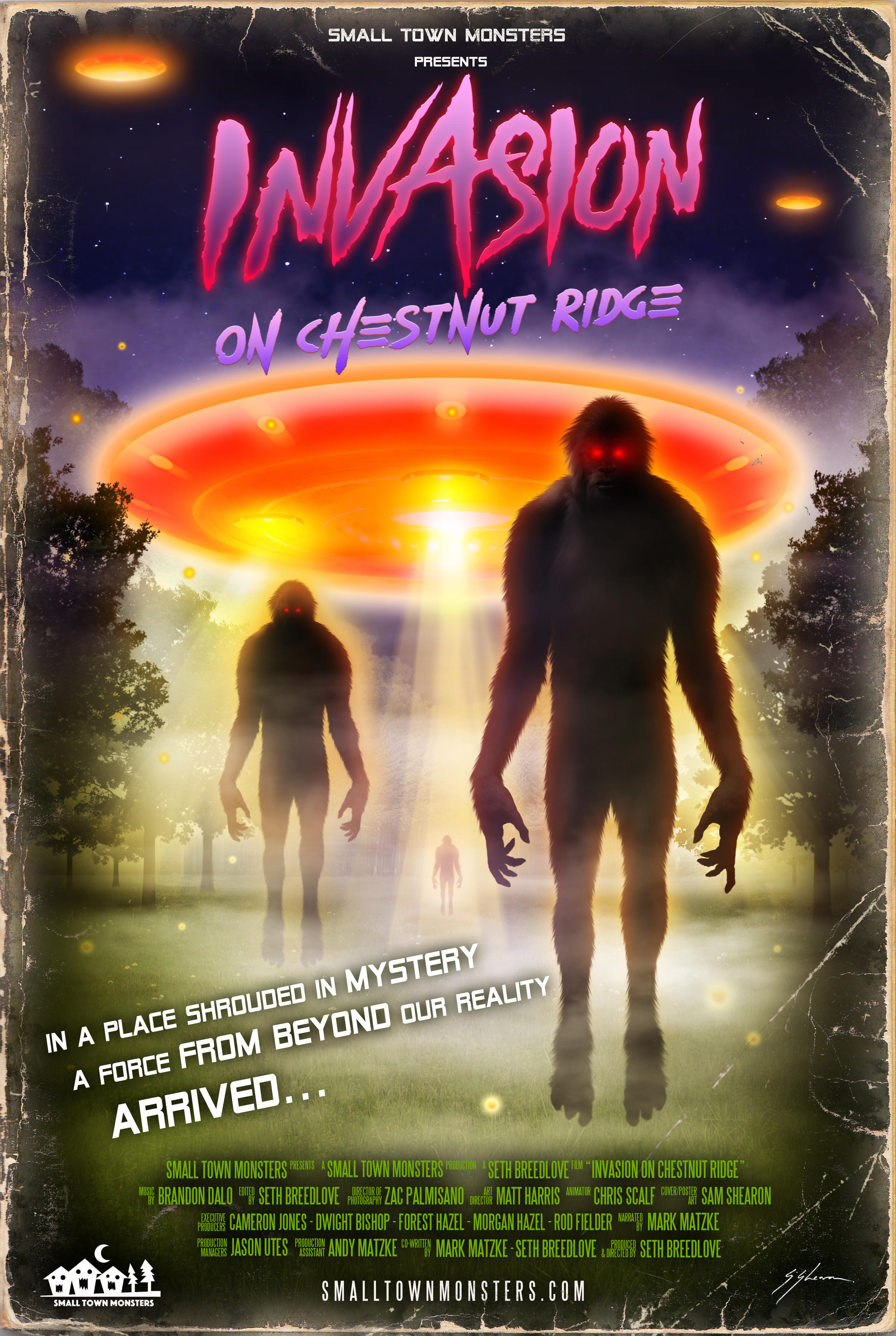 """The movie poster for """"Invasion on Chestnut Ridge"""". Credit Small Town Monsters"""