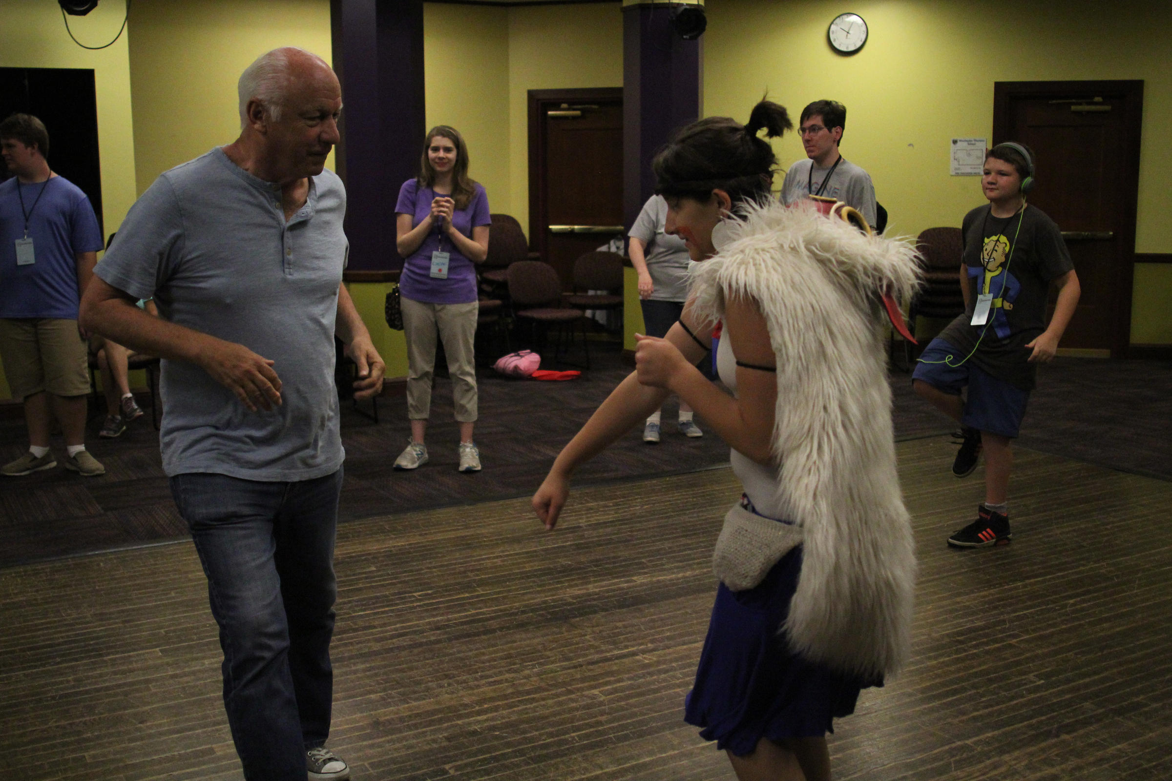 Camp Director Joey Travolta Dances With A Camper During A Daily Dance Party