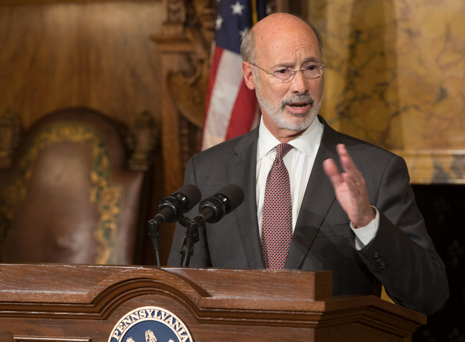 Wolf takes budget crisis into his own hands