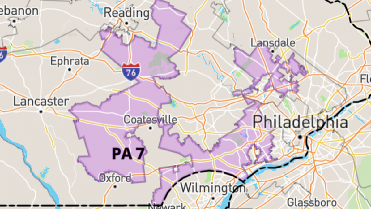 pennsylvania s oddly shaped 7th district is often cited as an extreme example of gerrymandering govtrack us