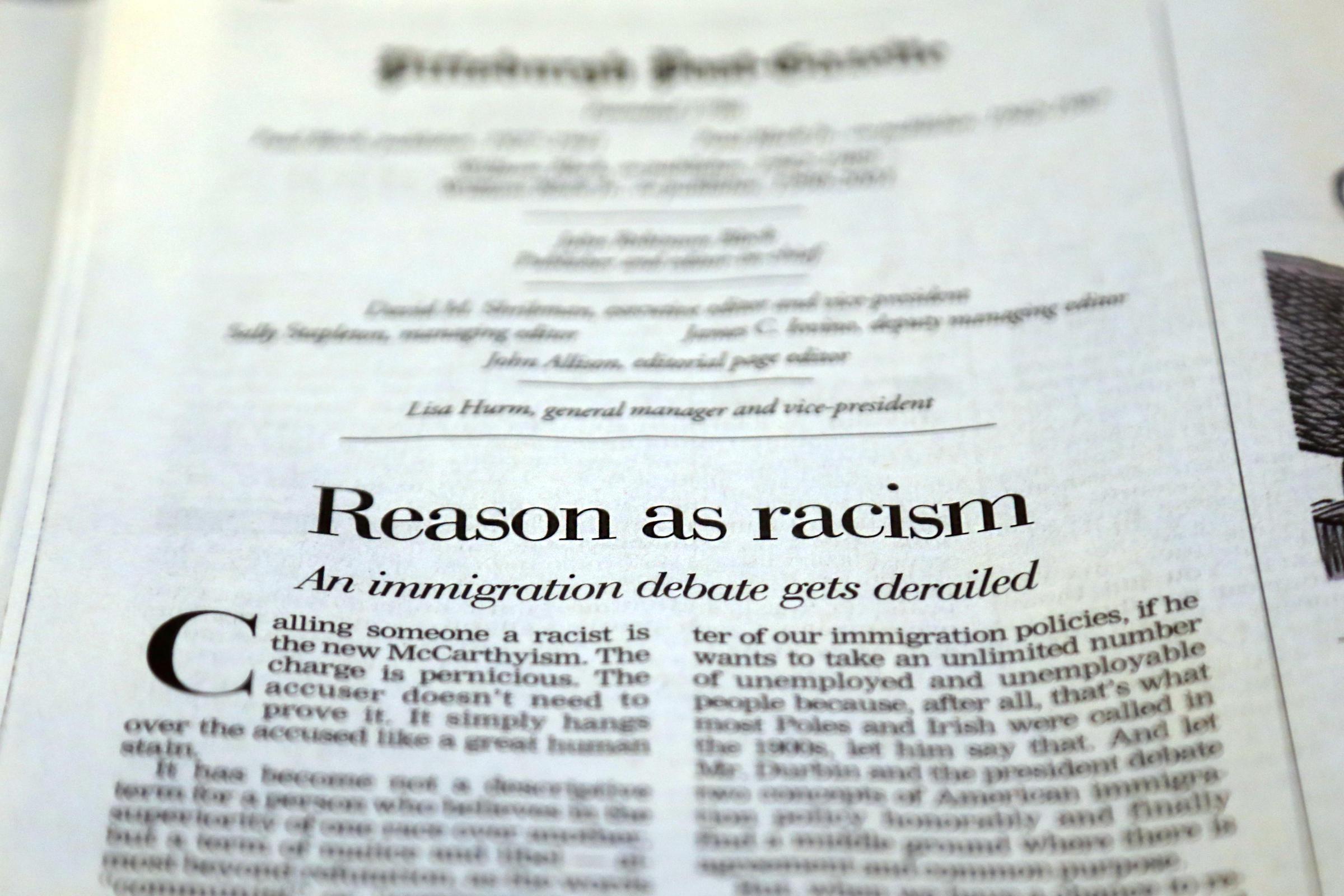 argumentative essay on racism racism
