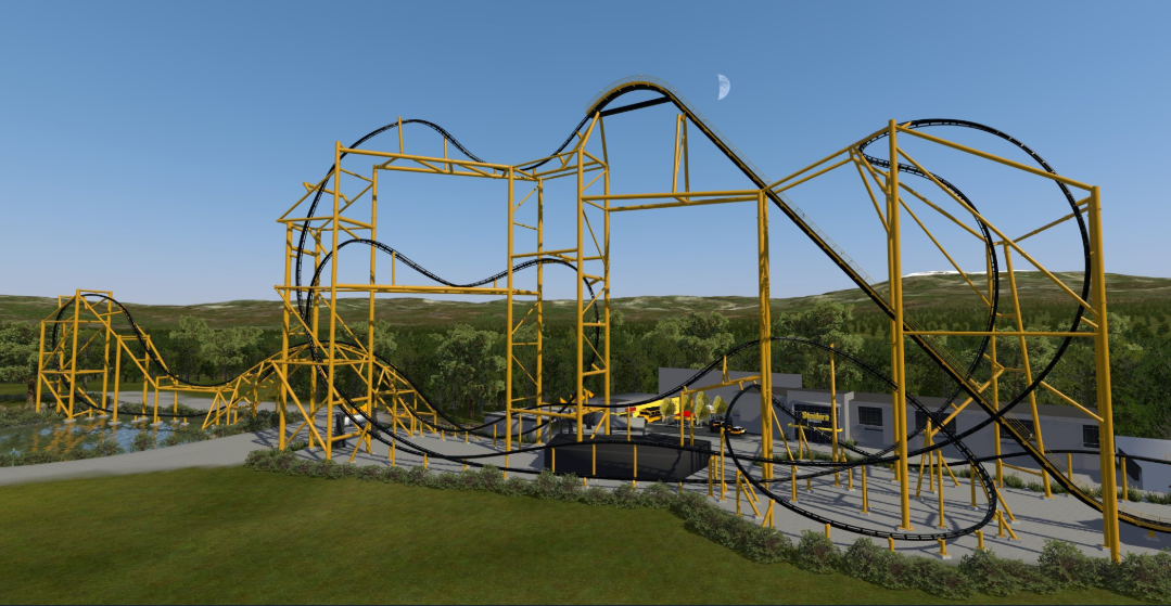 An Artist Rendering Of The Future Steel Curtain Roller Coaster At Kennywood